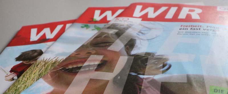 """Dieses Foto zeigt das Cover der AWO-Mitgliederzeitung """"WIR"""""""